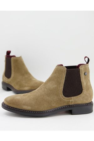 Base London Seymour chelsea boots in taupe suede