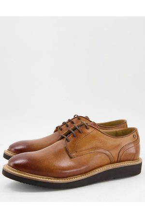 Base London Draco derby shoes in tan leather