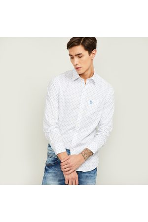 U.S. Polo Assn. . Men Printed Full Sleeves Casual Shirt
