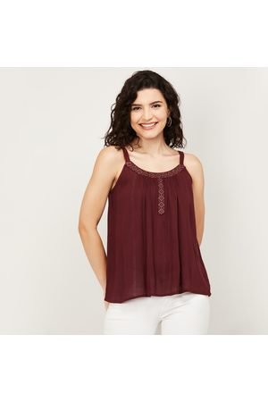Fame Forever Women Embroidered Sleeveless Top