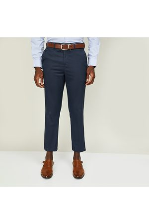 Code Men Checked Slim Tapered Fit Formal Trousers