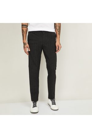 Celio Men Checked Slim Straight Fit Trousers