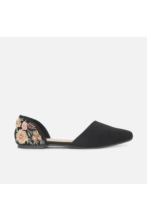 Ginger Women Embroidered D'Orsay Flats