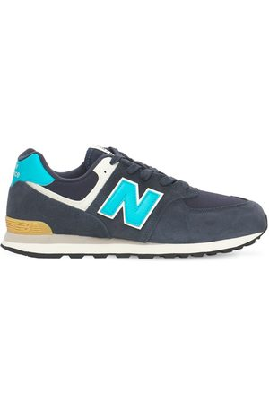 New Balance Boys Sneakers - 574 Suede & Mesh Lace-up Sneakers