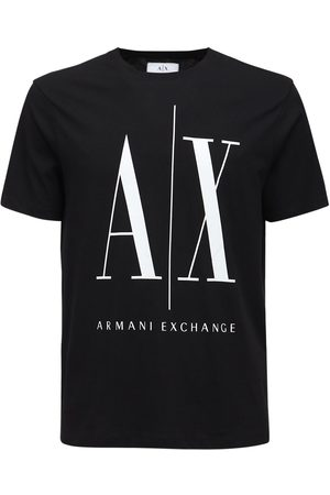 Armani Men T-shirts - Icon Logo Cotton Jersey T-shirt