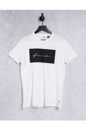 French Connection FCUK print block t-shirt in