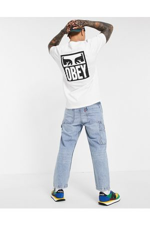 Obey Icon eyes back print t-shirt in