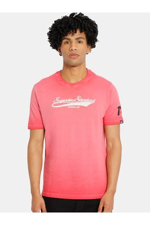 Cherokee Men Pink Printed Round Neck T-shirt