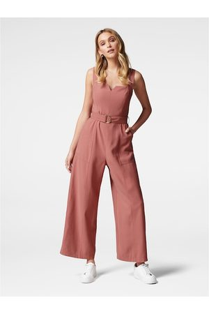 Forever New Women Pink Solid Basic Jumpsuit