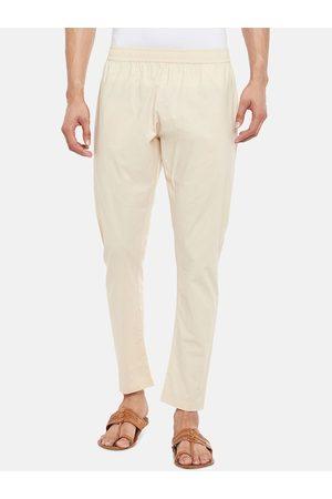 Pantaloons Men Beige Solid Straight-Fit Churidar