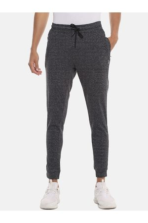 Campus Men Charcoal Grey Solid Straight-Fit Joggers