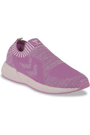 Hummel Women Purple Woven Design Slip-On Sneakers Casual Shoes