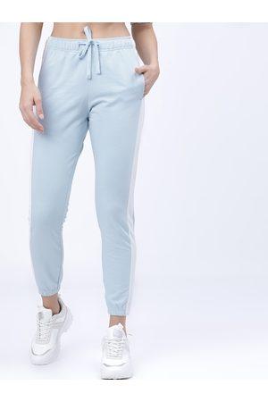 Tokyo Talkies Women Blue Solid Slim-Fit Joggers