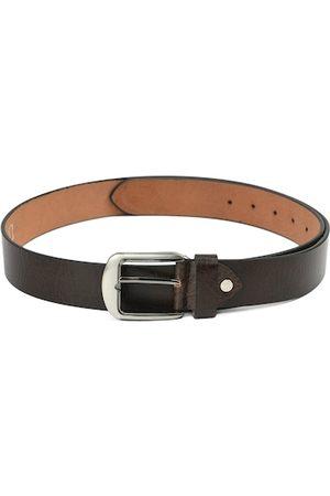 Kastner Men Brown Textured Leather Belt
