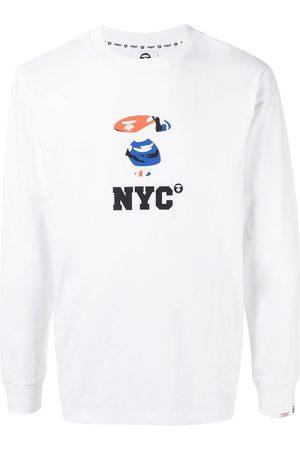 AAPE BY A BATHING APE Men Long Sleeve - NYC print long-sleeve shirt