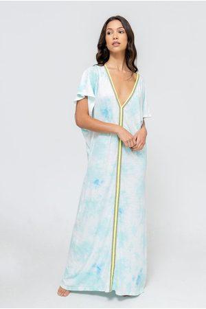 Pitusa Women Abayas - TIE DYE Inca Abaya LIGHT BLUE