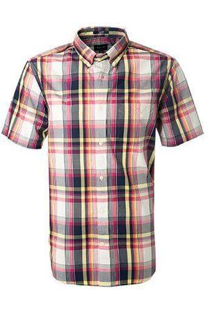 GANT Caberet Pink Regular Fit Washed Indigo Check Short Sleeve Shirt 3018521