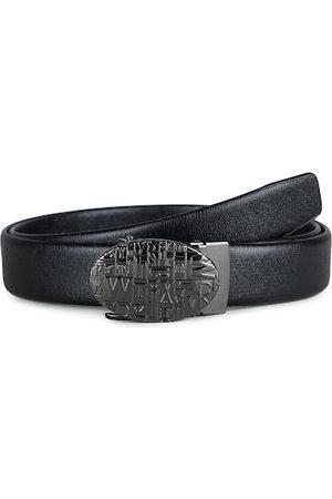 Kastner Men Belts - Men Black Solid Alphabet Buckle Belt