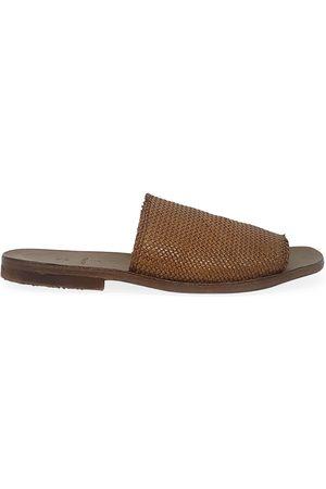 Moma Tan Leather Slip On Loafer