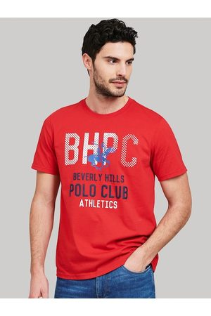 Beverly Hills Polo Club Men Red Printed Round Neck T-shirt