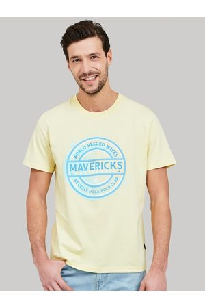 Beverly Hills Polo Club Men Yellow Printed Round Neck T-shirt