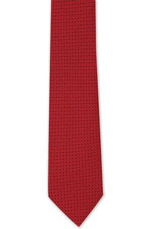 Van Heusen Red & Black Woven Design Broad Tie