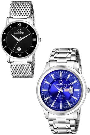 Carlington Men Black & Blue Analogue Watch