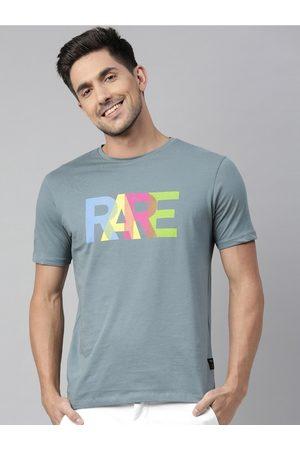 RARE RABBIT Men Grey Printed Round Neck T-shirt