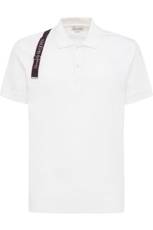 Alexander McQueen Logo Tape Harness Cotton Polo