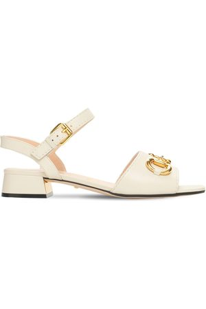 Gucci 25mm Baby Leather Sandals W/ Horsebit