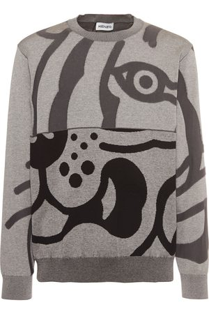Kenzo Men Sweatshirts - K-tiger Cotton Sweatshirt