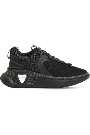 Balmain B Runner Mesh & Suede Low Top Sneakers