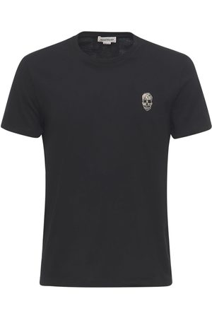 Alexander McQueen Skull Patch Cotton T-shirt