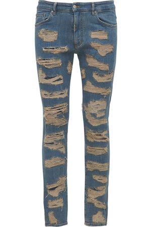 Represent Shredded Skinny Fit Denim Jeans