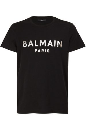 Balmain Men T-shirts - Logo Foil Organic Cotton Jersey T-shirt