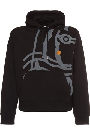 Kenzo Tiger Printed Cotton Sweatshirt Hoodie
