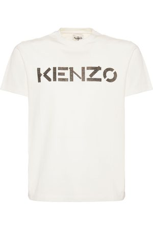 Kenzo Men T-shirts - Logo Cotton Crewneck T-shirt