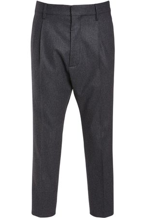 Dsquared2 Men Formal Trousers - Pleated Aviator Wool Blend Pants