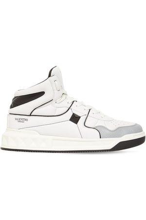 VALENTINO GARAVANI High-top Leather Sneakers W/ Studs