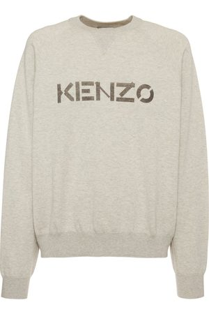 Kenzo Logo Printed Wool & Cotton Sweater