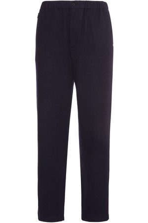 Kenzo Men Formal Trousers - Heavy Wool Blend Flannel Jogging Pants
