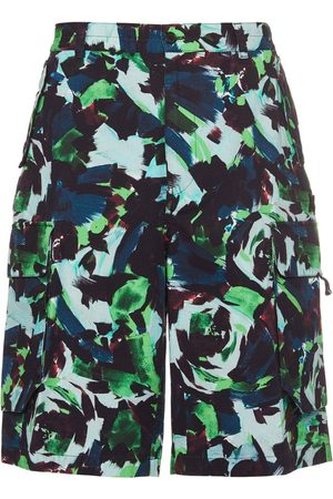 Kenzo All Over Printed Cotton Cargo Shorts