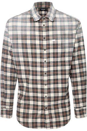 Dsquared2 Men Casual - Faded Check Cotton Flannel Shirt