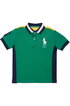 Ralph Lauren Logo Embroidered Piquet Polo Shirt