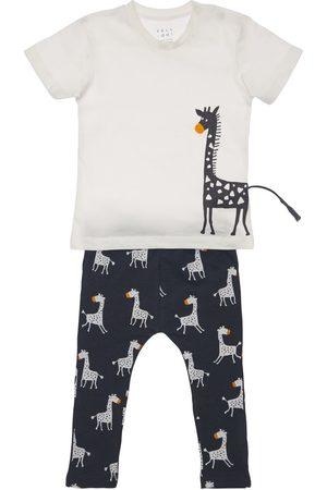 YELLOWSUB Giraffe Print Cotton T-shirt & Pants