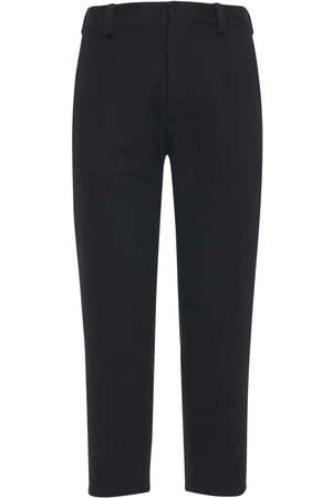 ANN DEMEULEMEESTER 18cm Striped Wool Blend Pants