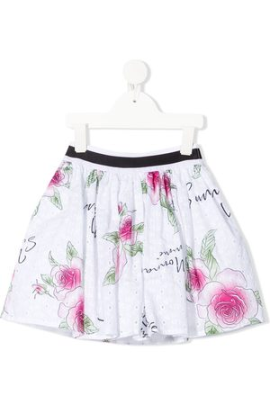 MONNALISA Floral-print pleated midi skirt