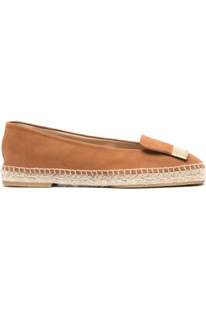 Sergio Rossi Women Casual Shoes - Plaque-embellished espadrilles