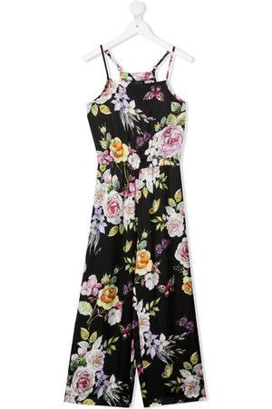 MONNALISA Floral-print sleeveless jumpsuit