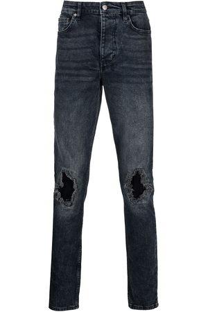 KSUBI Men Straight - Distressed straight-leg jeans